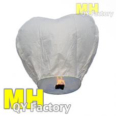 "White ""Original"" Fire Retardant Heart Sky lantern"