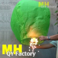 UK Sparkling Sky Lantern Green