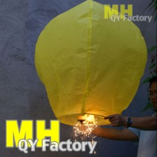 UK Sparkling Sky Lantern Yellow